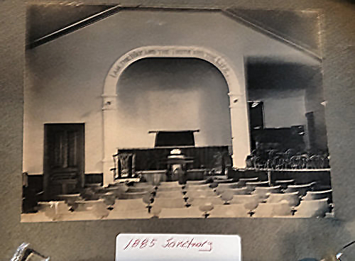 picture of old church sanctuary - church history page of first baptist church of kennett square, pa's website