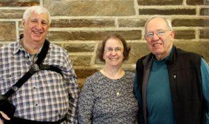 Picture of church officers Ken Smith, Barbara Miller and Kent Reasons - First Baptist Church of Kennett Square, PA 19348